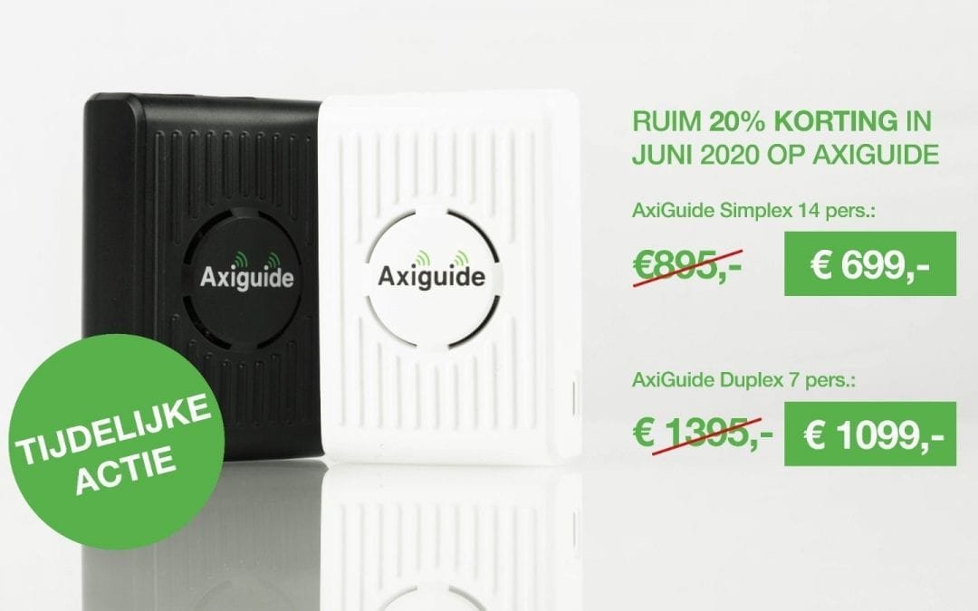 In juni 20% korting op AxiGuide rondleidingsysteem